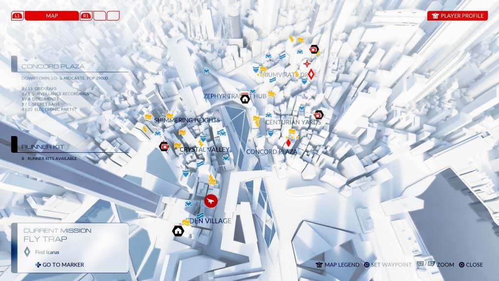 Mirror's Edge Catalyst Map