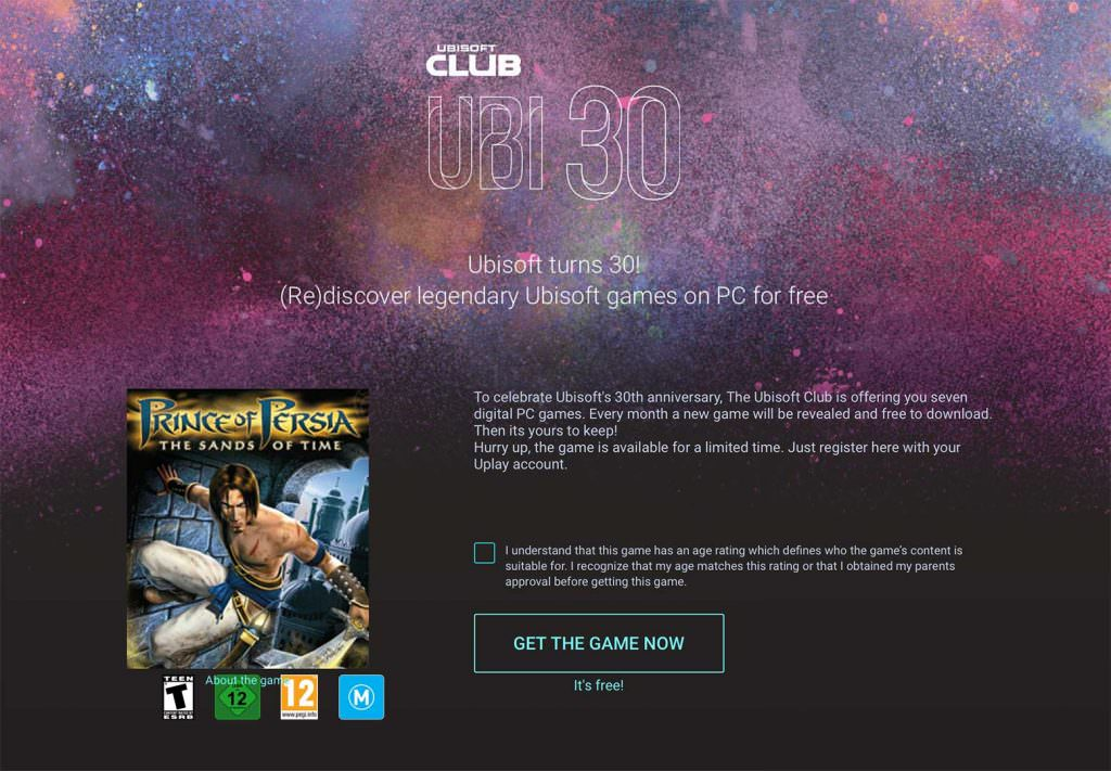 Celebrate 30 Years of Ubisoft with a Free Game