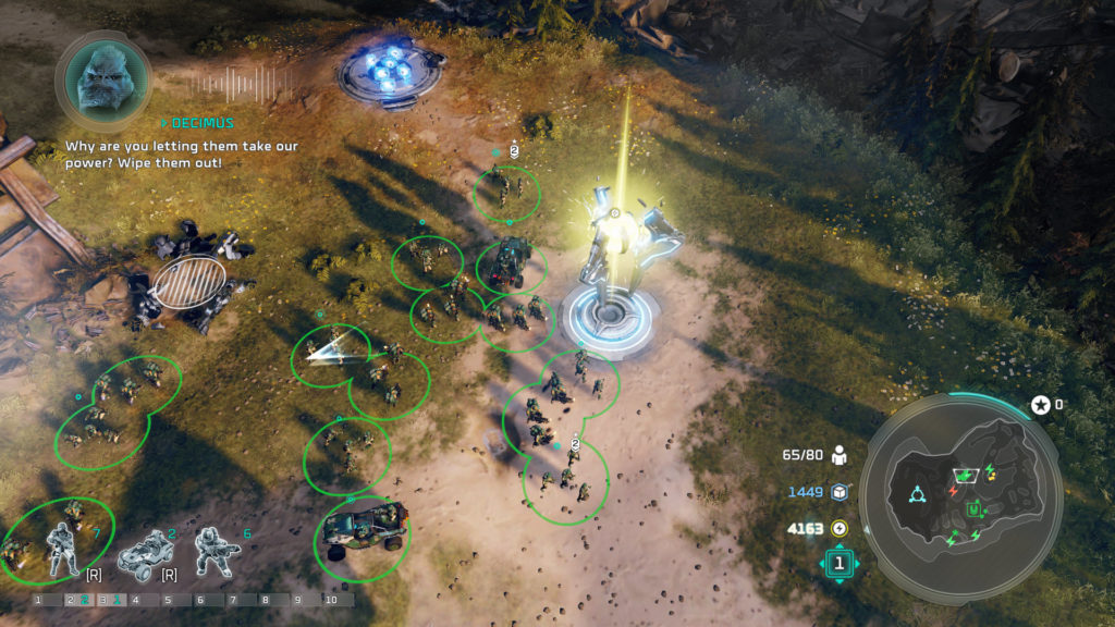 Halo Wars 2 Campaign Marines Capturing a Generator