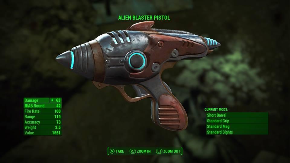 fallout 4 alien blaster