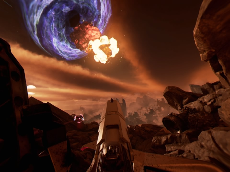 Farpoint explosion in the sky