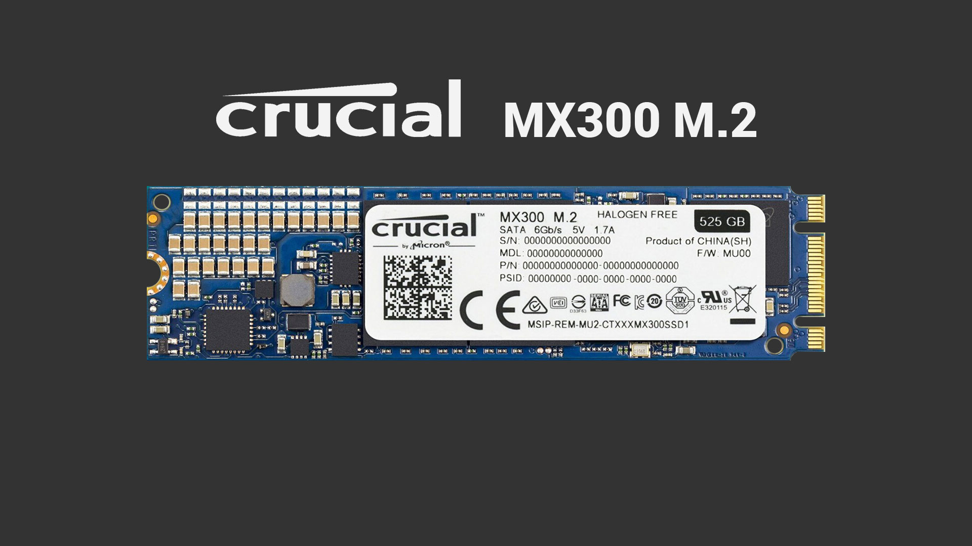 Crucial MX300 M.2 Review