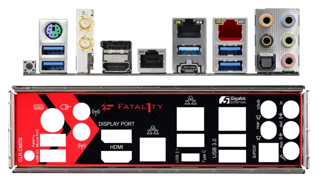 Asrock Fatal1ty Z270 Professional Gaming i7 io panel