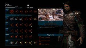 Shadow of War skill tree