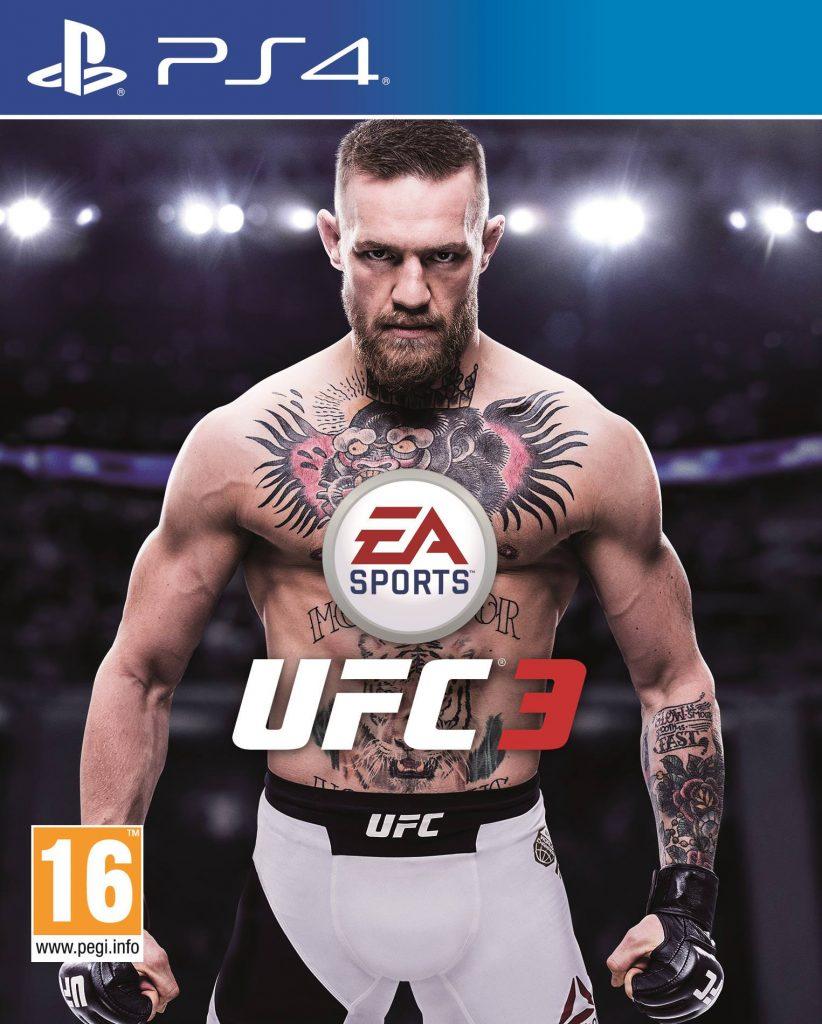UFC 3 cover featuring Conor McGregor