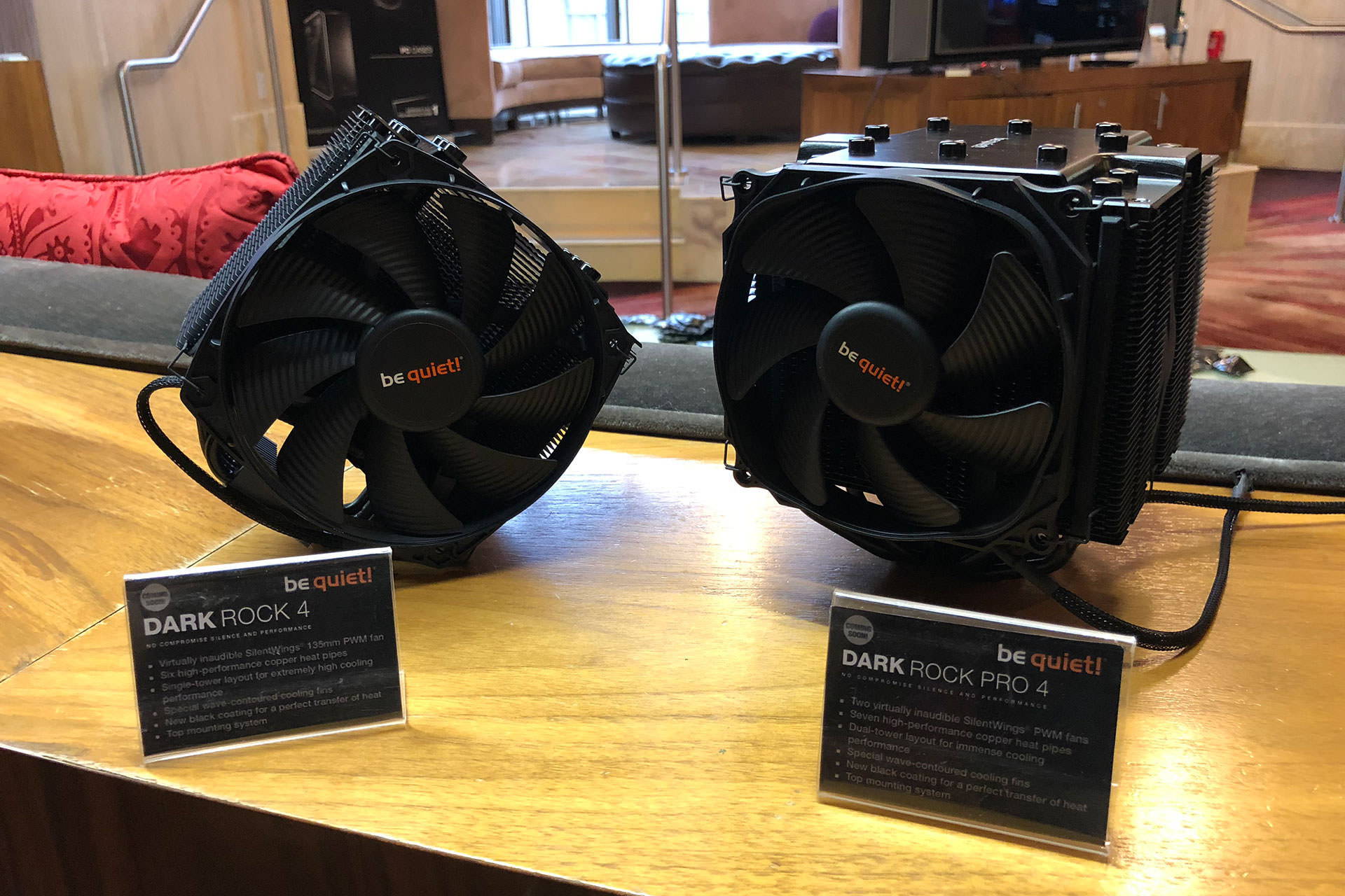 CES 2018: be quiet! shows Dark Rock 4 and Dark Rock Pro 4 CPU coolers with improved mounting