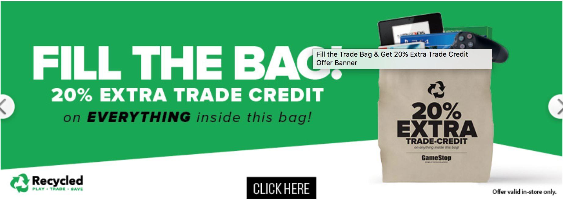 Trade Bag Incentive