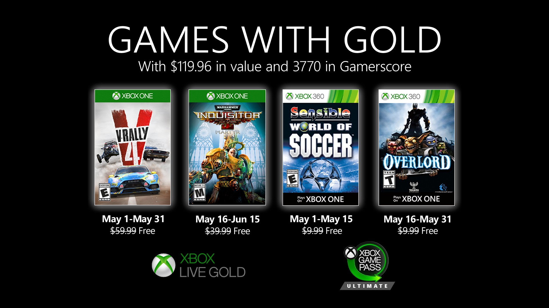 May's Xbox Games with Gold have been announced- V-Rally 4, Overlord and more